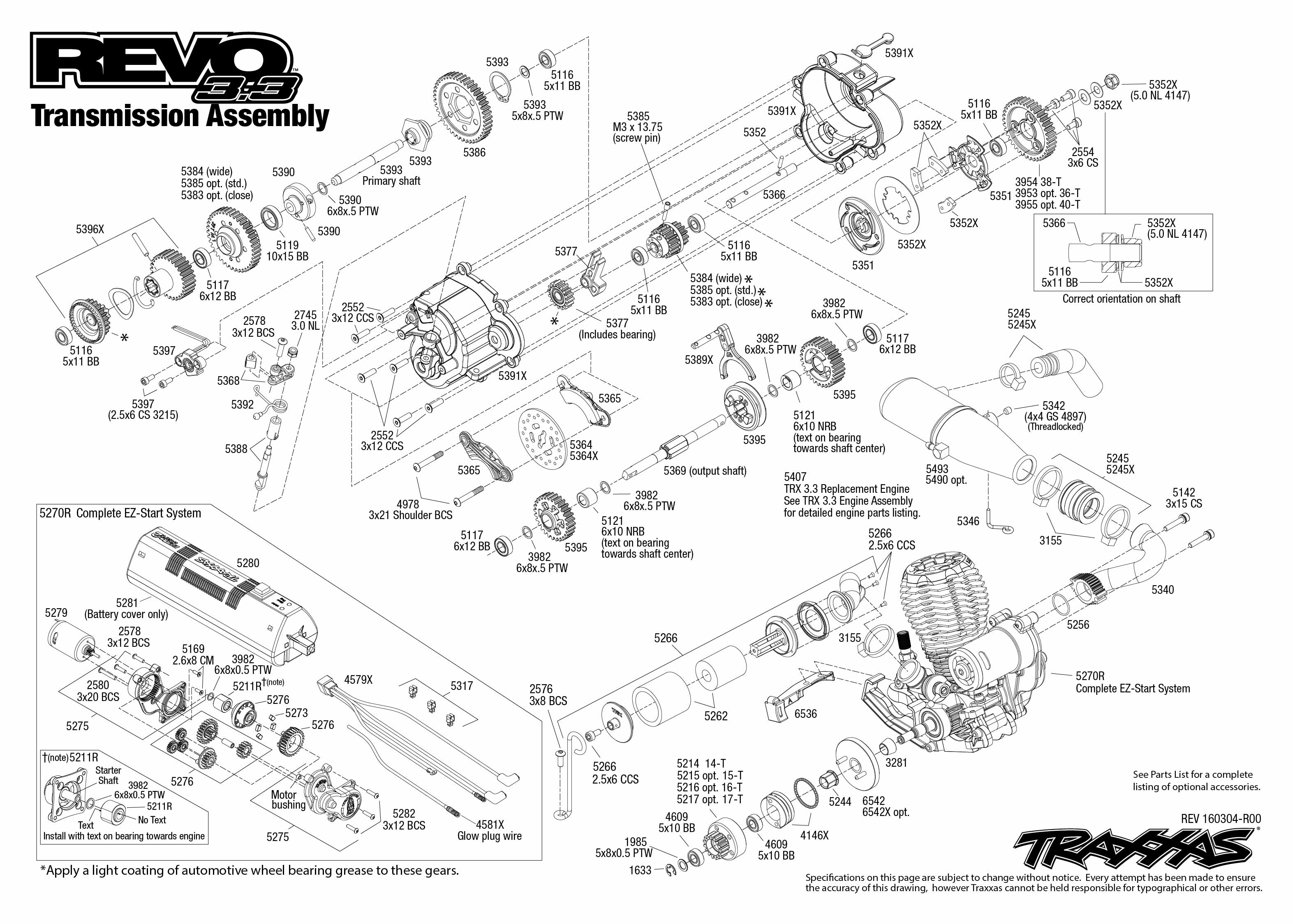 Traxxas Revo 33 4wd Nitro Rtr 110 Monster Tqi Tsm Telemetry 370 X Scooter Wiring Diagram Transmission