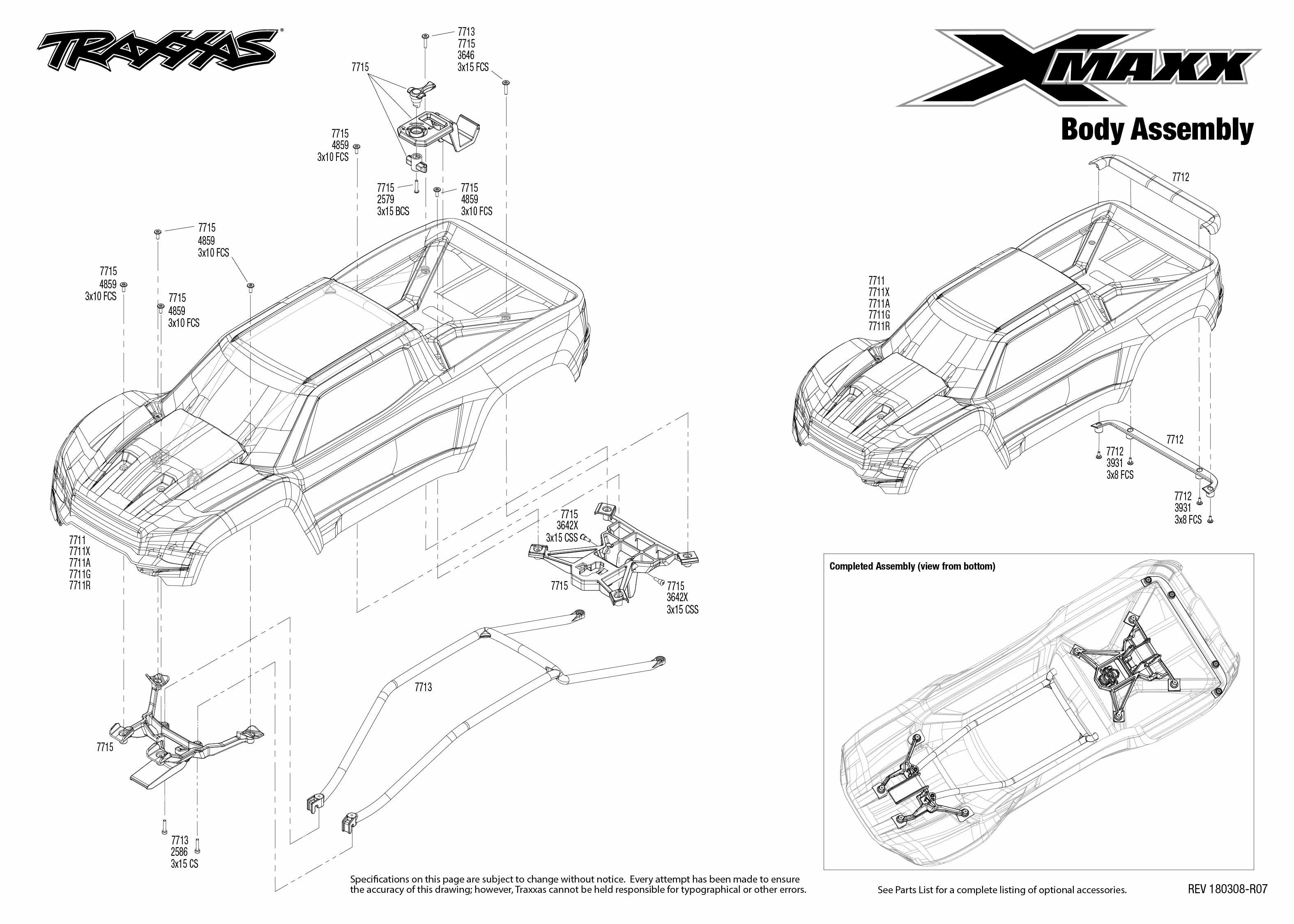 C27094 Integy Billet Machined 24mm Hex Adapter Wheel Hubs for Traxxas X-Maxx 4X4