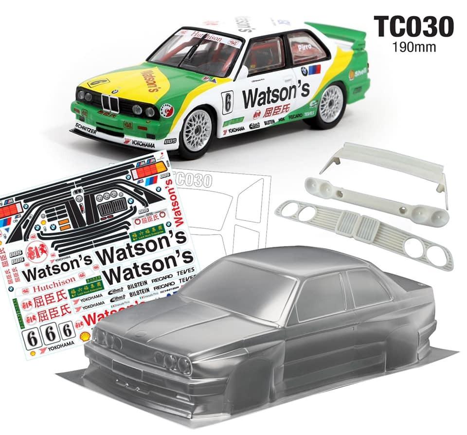 TeamC BMW E30 M3 1:10 Touring Car body 190mm - Maalaamaton ...