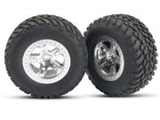 Traxxas SC Tyres - 12mm Hex (2WD Front) (2)
