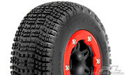 Pro-Line BowTie SC Tires Mounted On Split Six Red-Black Front Wheels For Traxxas Slash - M2 (2)