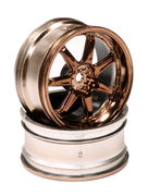 integy 7 Spoke Bronze Tone Wheel Set (2) for 1/10 Drift and Touring Car C23928