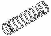 MCD Rear Shock Absorber Spring C=14,5kg/75mm (2,8mm)