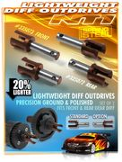 Xray Lightweight Diff Outdrive Adapter - Long - Hudy Spring Steel™ (2)