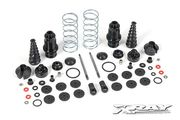 Xray XB9 Front Shock Absorbers + Boots Complete Set (2)