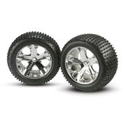 Traxxas 3770 - Alias Tyres with All Star Chrome Wheels - 12mm Hex