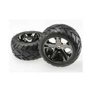 Traxxas - Anaconda Tyres Pre-Glued On All-Star Chrome Wheels, 12mm Hex TRA-3773A