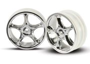 "Traxxas Wheels Tracers 2.2"" Chrome 2WD Front (2) - Bandit"