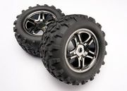 "Traxxas Tires & Wheels Maxx/SS Black Chrome (17mm) 3,8"" (2) (TSM)"