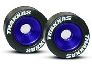 Traxxas Mounted Wheelie Bar Tires/Wheels Blue