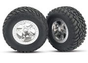 Traxxas Tires & Wheels SCT/SCT, 4WD/2WD Rear (2)