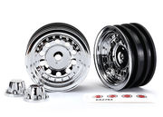 "Traxxas Wheels Chrome 1.9"" SC (for 8255A Axle) (2)"