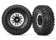 "Traxxas Tires & Wheels Canyon Trail/TRX-4 Black-Satin 1.9"" (2)"