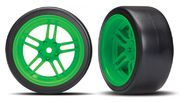 "Traxxas Tires & Wheels Drift 1.9"" On Split-spoke Rear (2)"