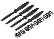 Gemfan BullNose Blade For Multicopter 6 X 4.0 Black 2x L + 2x R (4)