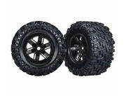 Traxxas Tires & wheels (X-Maxx black wheels/ Maxx AT 8s tires) (2)