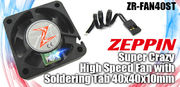 Zeppin Zeppin Racing Super Crazy High Speed Fan with Soldering Tab 40x40x10mm