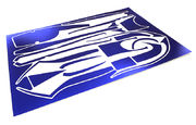 Integy Scratch Resistance Sticker Set Decal For Traxxas 6507 TQi 2.4Ghz 4ch Controller