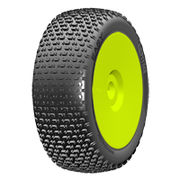 GRP 1:8 Buggy - EASY - New Closed Cell Insert - Mounted on New Closed Yellow Wheel