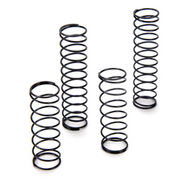 Team Losi Front & Rear Shock Spring Set (4) (Black - Medium)