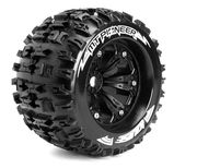 Louise 1:8 3.8 Inch Monster Tire MT-Pioneer Mounted On Black Wheel - 0 Offset - Sport (2)