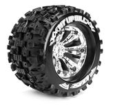 Louise 1:8 3.8 Inch Monster Tire MT-Uphill Mounted On Chrome Wheel - 0 Offset - Sport (2)