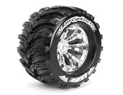 Louise 1:8 3.8 Inch Monster Tire MT-Cyclone Mounted On Chrome Wheel - 0 Offset - Sport (2)