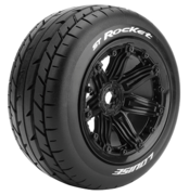 Louise Tires & Wheels ST-ROCKET 1/8 Truck (Beadlock) Black (2)
