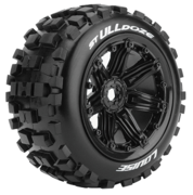 Louise Tires & Wheels ST-ULLDOZE 1/8 Truck (Beadlock) Black (2)