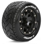 Louise Tires & Wheels MT-ROCKET 1/10 Black Beadlock (1/2) Soft MFT (2)