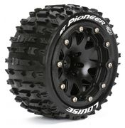 Louise Tires & Wheels ST-PIONEER 1/10 Black Beadlock (1/2) Soft MFT