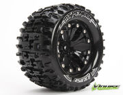 Louise 1:10 MT-Pioneer Monster 2.8 Inch Tire Mounted On Black Wheel - 0 Offset - Soft (2)