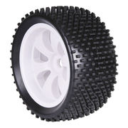 TeamC 1/8 Truggy Racing Tyre With White Rim (2)