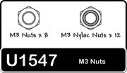 Schumacher SPEED PACK - M3 Nuts