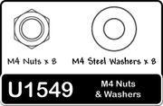 Schumacher Speed Pack - M4 Nut & Washers