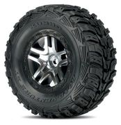 Traxxas Tires & Wheels, Kumho/Split-Spoke, 4WD/2WD Rear (2)