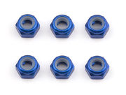 Team Associated FT M3 Locknut - Blue (6)