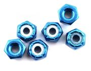 Team Associated 8/32 Aluminum Locknuts (Blue Anodized) (6)