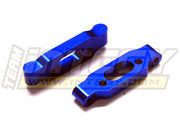 Integy Rear Arm Mount (2) 1.5 & 3.0 Toe for RC18T Blue