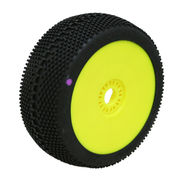 ProCircuit Square Impact Purple Tire Pre-Mounted On Yellow Wheel - Super Soft (2)