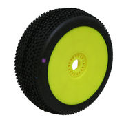ProCircuit Hot Dices Buggy Purple Tire Pre-Mounted On Yellow Wheel - Super Soft (2)