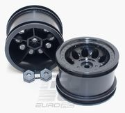 RPM Black Revolver Rock Crawler Wheels - Narrow Wheelbase