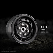 GMade 1.9 SR02 Beadlock Wheels - Matt Black (2)