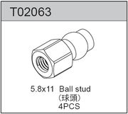 TeamC Shock Upper Ball Stud 5.8 X 11 (4)
