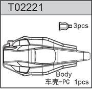 TeamC TC02C/T2C Body - Saddle Pack