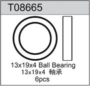 TeamC 13x19x4mm Rubber Sealed Ball Bearing (6)
