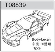 TeamC GT2 GT8 Body Corvette - Clear Lexan