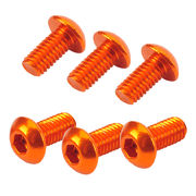 TeamC Aluminum M3x6 Button Head Screw - Orange (6)