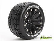 Louise 1:10 ST-Rocket 2.8 inch Truck Tire Mounted on Black Rim - 0 Offset - Soft (2)