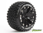 Louise 1:10 ST-Hummer 2.8 inch Truck Tire Mounted on Black Rim - 1:2 Offset - Soft (2)